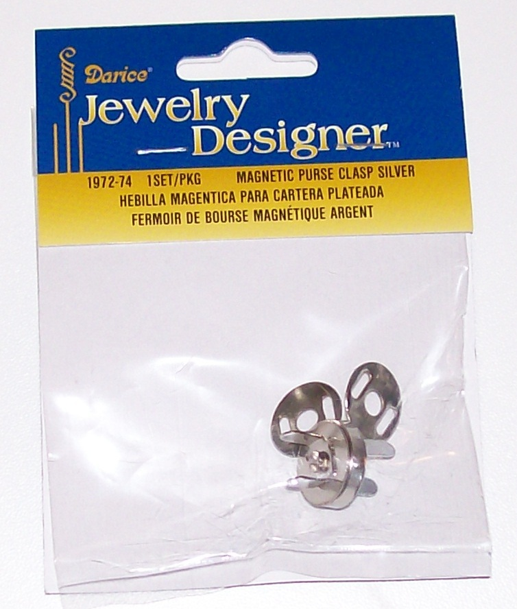 1972-74 magnetic bag clasp silver