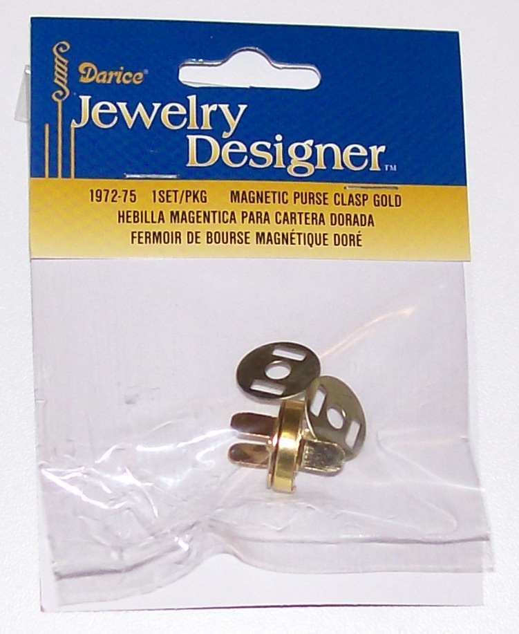 1972-75 magnetic bag clasp gold
